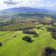Maui Aerial Art Print