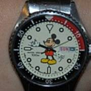 Mickey Mouse Watch Art Print