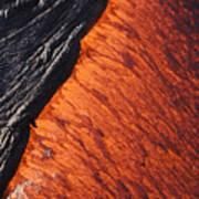 Molten Pahoehoe Lava Art Print