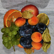 Multicolor Fruits Art Print