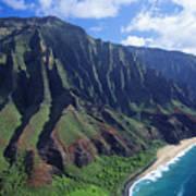 Na Pali Coast Aerial Art Print
