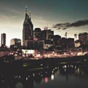 Nashville At Dusk Art Print
