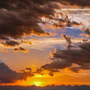 Nebraska Hp Supercell Sunset Art Print
