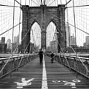 Nyc Brooklyn Bridge Art Print by Nina Papiorek