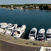 panoramic town 1 - Panorama of Port Mahon Menorca Art Print