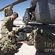 Pararescuemen Sorts Out His Gear Art Print
