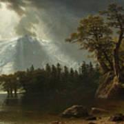 Passing Storm Over The Sierra Nevadas Art Print