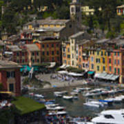 Portofino In The Italian Riviera In Liguria Italy Art Print