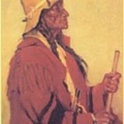 Portrait Of Billjones Joseph Henry Sharp Art Print