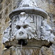 Public Fountain In Dubrovnik Croatia Art Print