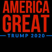 Reelect Trump For President Keep America Great Dark Art Print