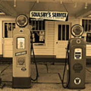 Route 66 - Soulsby Station Pumps Art Print
