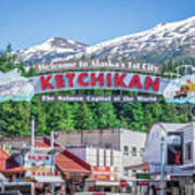 Scenery Around Alaskan Town Of Ketchikan Art Print