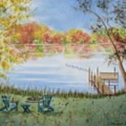 4 Seasons-autumn Art Print