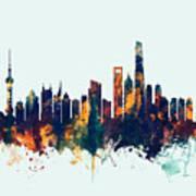 Shanghai China Skyline Art Print