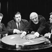 Silent Film Still: Gambling Art Print
