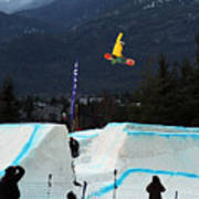 Snowboarder At The Telus Snowboard Festival Whistler 2010 Art Print