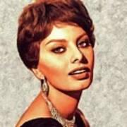 Sophia Loren, Vintage Movie Star Art Print