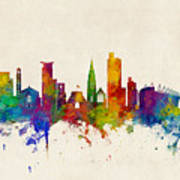 Southampton England Skyline Art Print