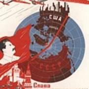 Stalin Soviet Propaganda Poster Art Print