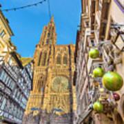 Strasbourg,christmas Market, Alsace France  Art Print