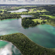 Suwalki Landscape Park, Poland. Summer Time. View From Above. Art Print