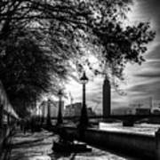 The River Thames Path Art Print