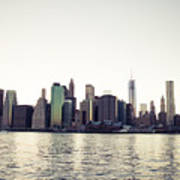 View Of Lower Manhattan Skyscrapers And Huge Sky Art Print