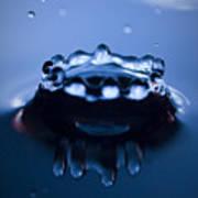 Water Droplet Crown Art Print