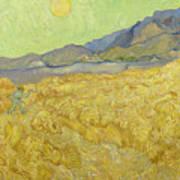 Wheatfield With A Reaper Art Print