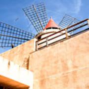 Windmill - Trapani Salt Flats Art Print