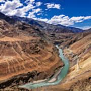 Zanskar River Ladakh Jammu And Kashmir India Art Print