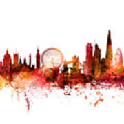 London England Skyline Art Print