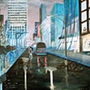 42nd Street Blue Print by Steve Karol