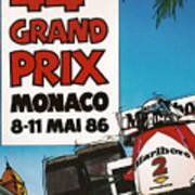 44th Monaco Grand Prix 1986 Art Print