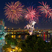 4th Of July Fireworks Art Print