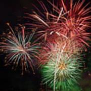4th Of July Fireworks Display Portland Oregon Art Print
