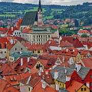 A View Of Cesky Krumlov In The Czech Republic Art Print
