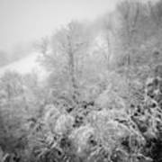 Abstract Scenes At Ski Resort During Snow Storm Art Print