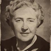 Agatha Christie 2 Art Print