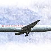 Air Canada Boeing 777 Art Art Print