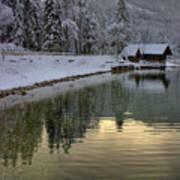 Alpine Winter Reflections Art Print