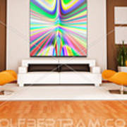 An Example Of Modern Art By Rolf Bertram In An Interior Design Setting Art Print by Rolf Bertram