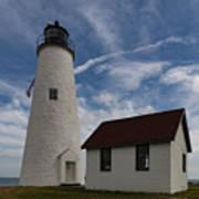 Bakers Island Lighthouse Salem Art Print