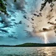 Beautiful Landscape Scenes At Lake Jocassee South Carolina Art Print