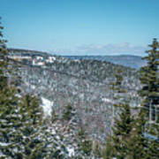 Beautiful Nature And Scenery Around Snowshoe Ski Resort In Cass  Art Print