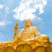 Big Golden Buddha Art Print