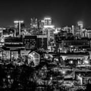 Birmingham Alabama Evening Skyline Art Print