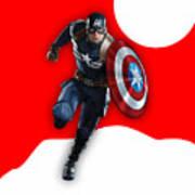 Captain America Collection Art Print