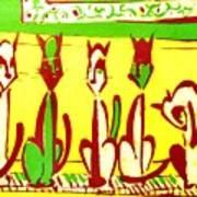 5 Cats On A Piano Art Print